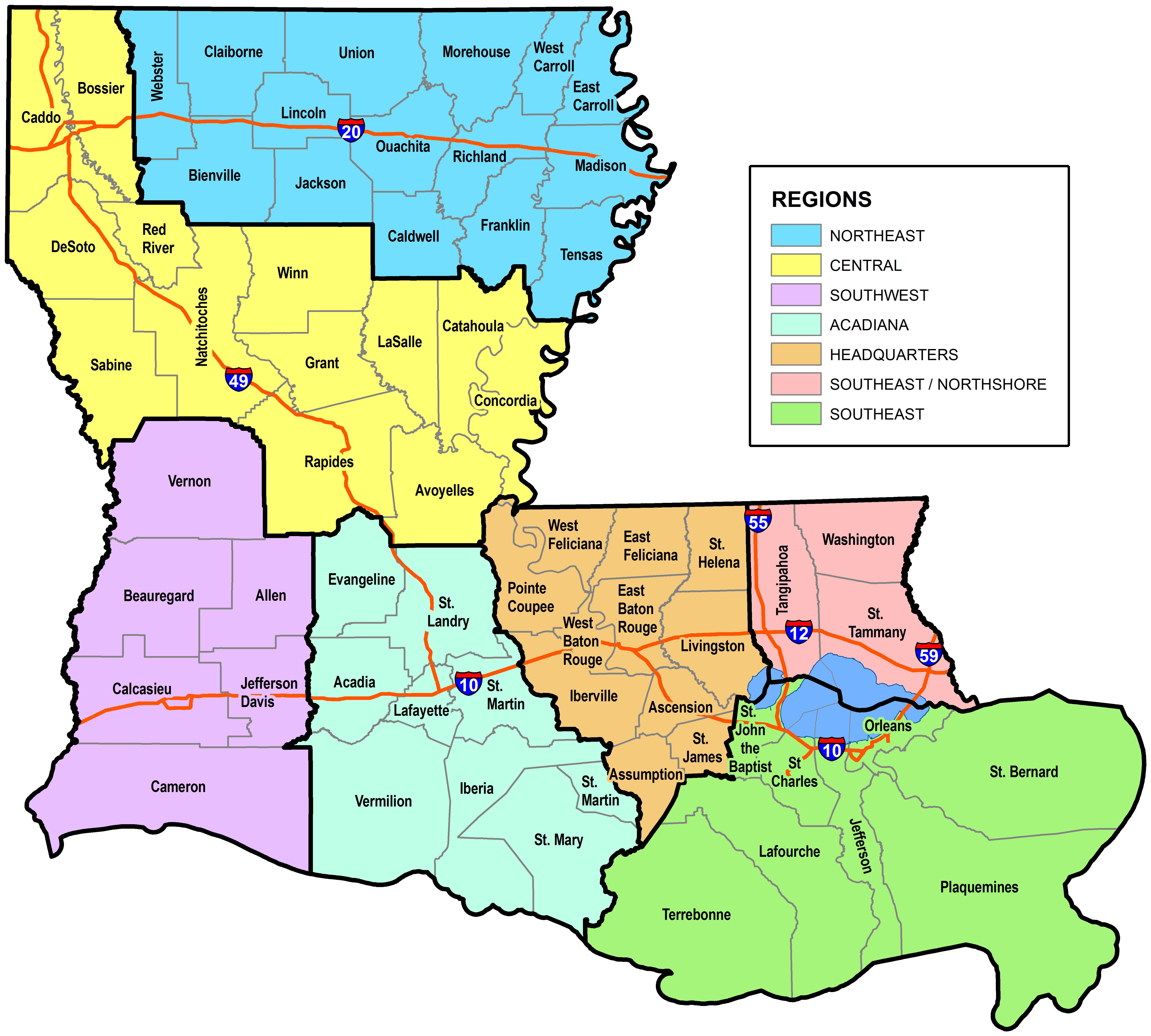 Small Business Parish AssignmentsRegional Contacts Louisiana